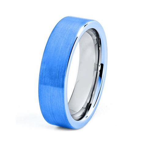 blue titanium ring blue titanium rings blue wedding