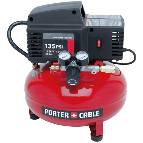 porter cable 3 5 gal 135 psi pancake electric air compressor pcfp02003 the home depot