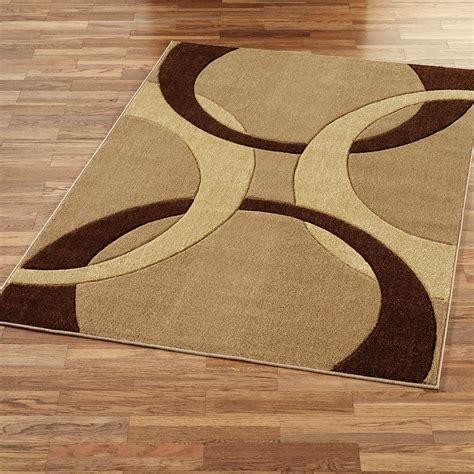Corfu Contemporary Rectangle Rug Brown Area Rugs Brown And Beige Area Rug
