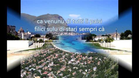 popolare siciliano sicilia terra d amuri canto popolare siciliano col testo