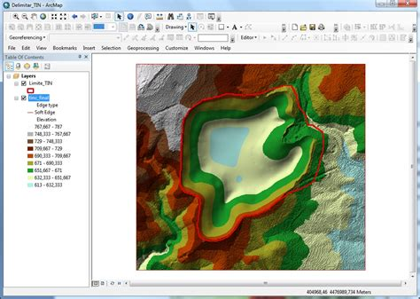 tutorial tin arcgis how to delineate a tin dataset using arcgis