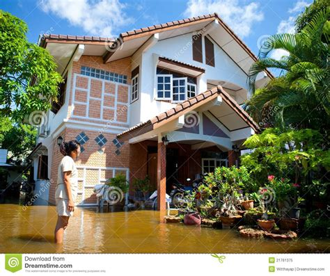 house insurance thailand flood waters overtake house in thailand editorial image image 21761375