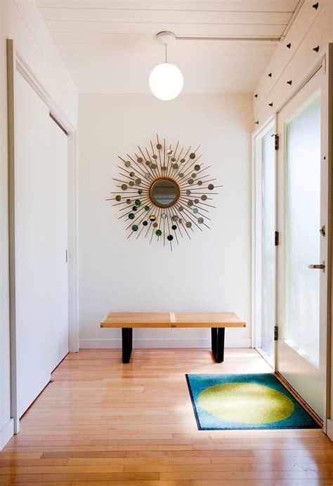 mid century entryway marvelous wooden starburst mirror decorating ideas gallery