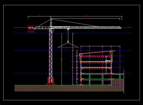 M Drawing In Autocad by Cad Drawing 30m Clear Height Building Crane