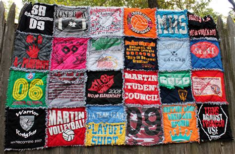 Handmade T Shirt Quilts - items similar to custom t shirt rag quilt on etsy