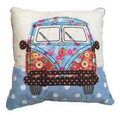 vw vw campervan camper van camper caravan camping vintage handmade cushion cover