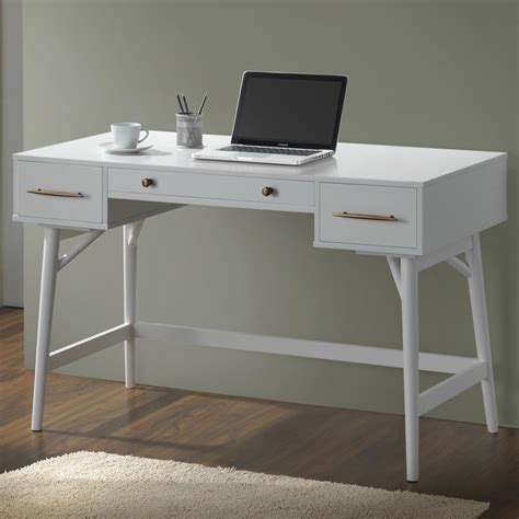 furniture white desk 800745 white writing desk from coaster 800745 coleman