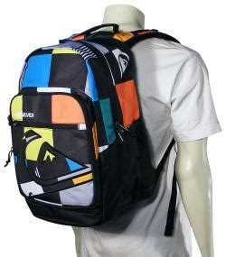 Tas Quiksilver Big Check Blue quiksilver schoolie backpack big check for sale at