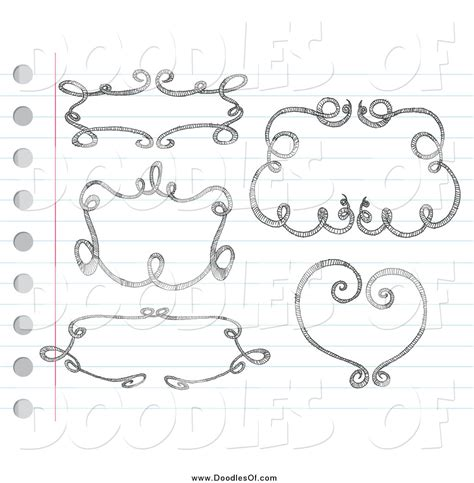 doodle paper vector clipart of sketched doodle frames on paper by