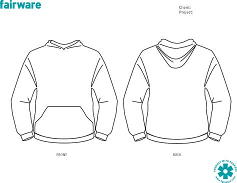 design template pullover hoodie fairware