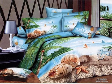 3d beach palm tree bedding comforter sets queen size duvet