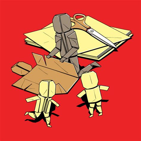 Origami Family - 365 day challenge i drew one t shirt design a day
