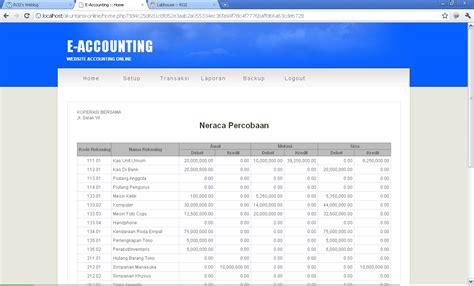 Membuat Web Akuntansi Dengan Php | membuat situs akuntansi online e accounting dengan php