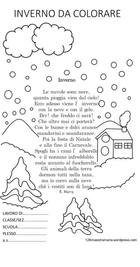 nuvole di rock testo libretto con poesia da colorare per la stagione invernale