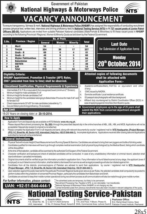 Nts Test 2016 Nh Mp National Highways Motorway