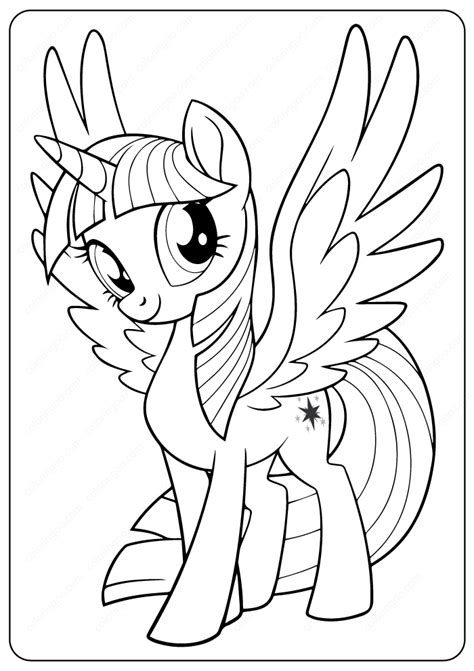 printable   pony twilight sparkle coloring pages