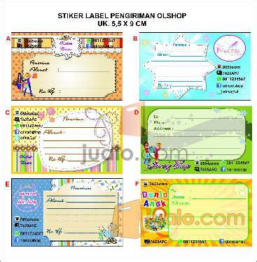 Stiker Label Pengiriman Barang Kode 05 stiker pengiriman olshop surabaya jualo