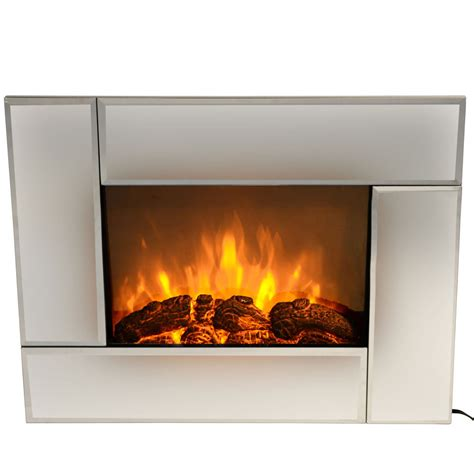 indoor wall fireplace 1500w modern mirror frame indoor electric wall mount
