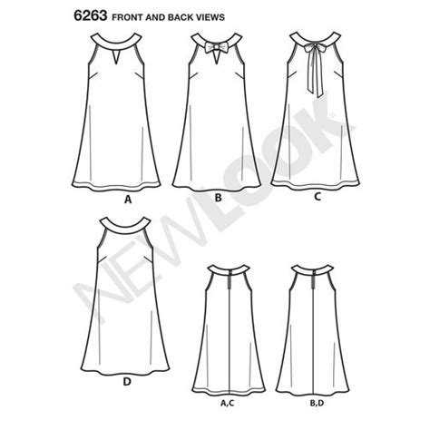 pattern new line pattern for misses a line dress simplicity
