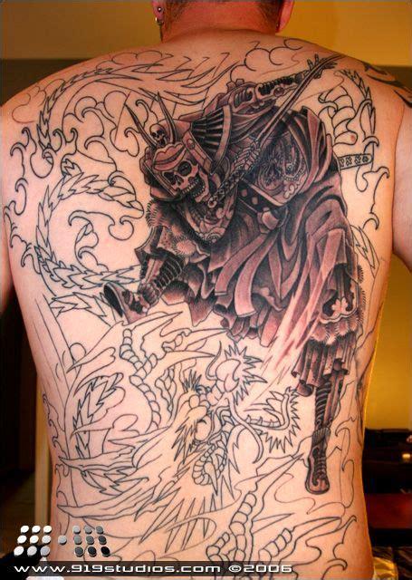 tribal samurai tattoo tribal backpiece tribal tribe tattoos designs