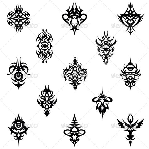 design elements vector pack tribal tattoo design elements vector pack graphicriver