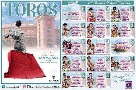 Calendario Taurino 2017 Feria Nacional De San Marcos 2017 Gt Gt Gt Programa Artistas
