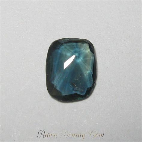 Cincin Bluish Green Sapphire promo batu safir hijau kebiruan cushion cut 0 99 carat
