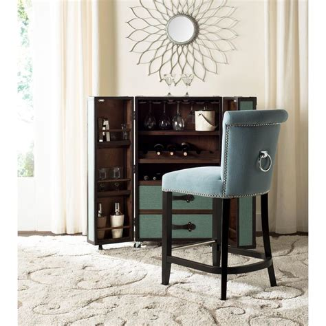 Addo Ring 25 7 Bar Stool - safavieh addo 25 7 in sky blue cushioned bar stool