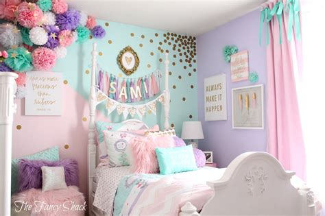 Diy Bedroom Painting Ideas the fancy shack pastel girls room makeover