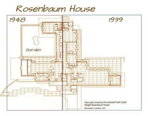 rosenbaum house floor plan house plans of the rosenbaum house used by restoration