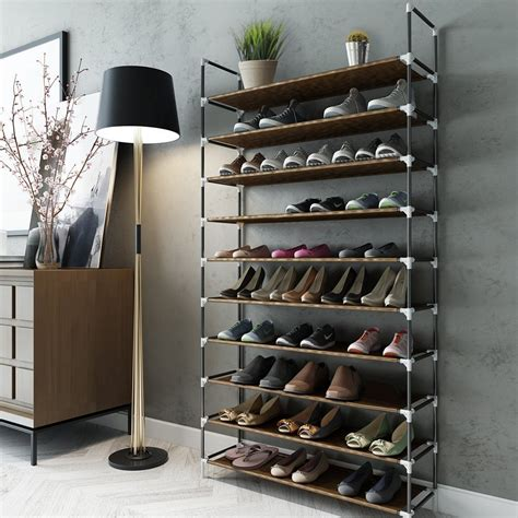 shoe storage sale 50 pair shoe rack on sale for 19 98 thrifty