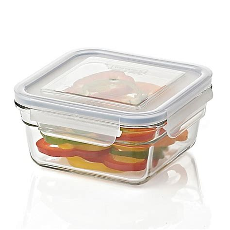 bed bath and beyond containers buy glasslock 30 oz food storage container in blue from