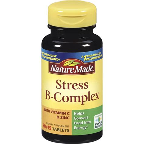 Suplemen Vitamin B Kompleks nature made stress b complex dietary supplement with