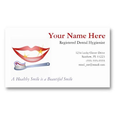 Dental Hygienist Business Card Templates 16 best images about dental hygiene business cards on