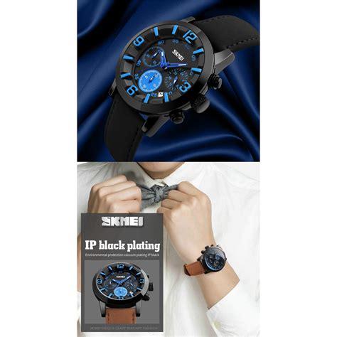 Jam Tangan Skmei Black skmei jam tangan analog pria 9147cl black white