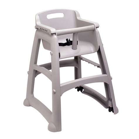 plastic high chair for restaurants rubbermaid fg780508plat 29 75 quot stackable high chair w