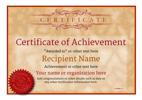 certificate templates for achievement award certificate of achievement free templates easy to use