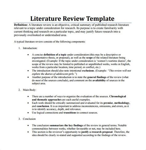 themes within a literature review beautiful literature review template apa ideas exle