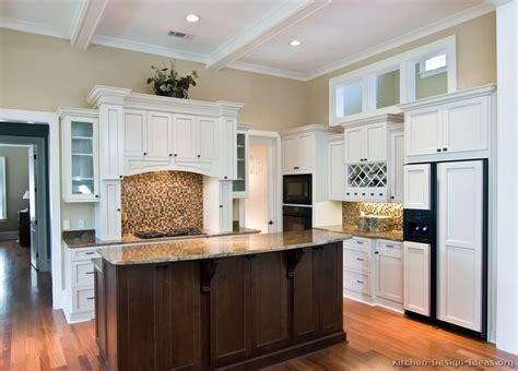 white kitchen cabinets with dark island pictures of kitchens traditional white kitchen