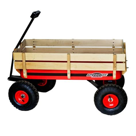 speedway 200 lb capacity all terrain wooden racer wagon