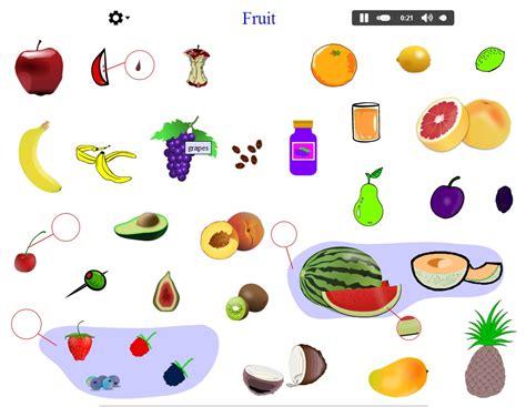imagenes en ingles con e vocabulary of fruits languageguide org didactalia
