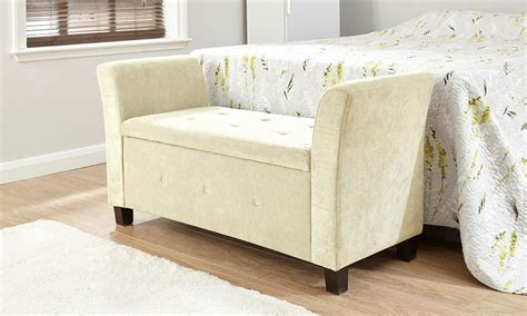 chenille storage bench and ottoman verona chenille diamante window seat ottoman storage box