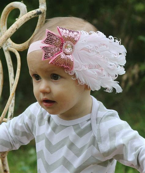 Headband Baby Feather 34 best images about feather headbands for babies on