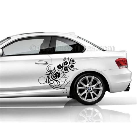 Bedroom Wall Stickers For Girls bmw 1 series car sticker side decal flower car sticker