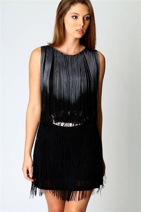 metallic belt tassle dress style