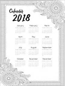 Calendario 2018 Descargar Calendario 2018 Con Dise 241 O Decorativo Descargar Vectores