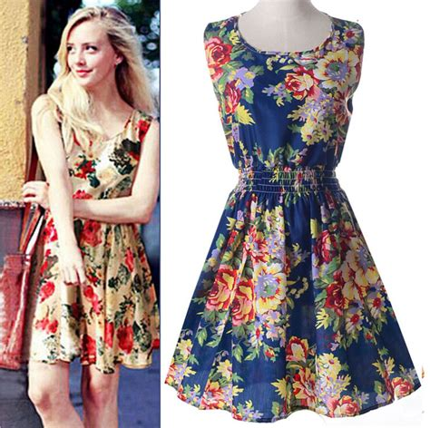 Dress Kerja Stylish New Impor on sale new fashion floral print dresses casual chiffon summer dress womens 2017