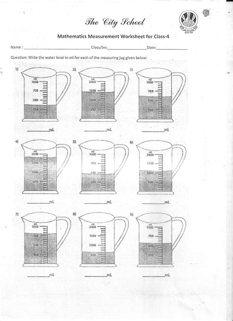 The City School: Worksheet for Class - 4 (Science, S.S.T