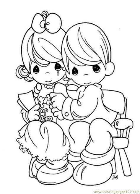 free printable precious moments coloring pages