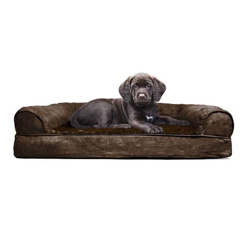 orthopedic dog couch furhaven plush orthopedic sofa dog bed pet bed ebay
